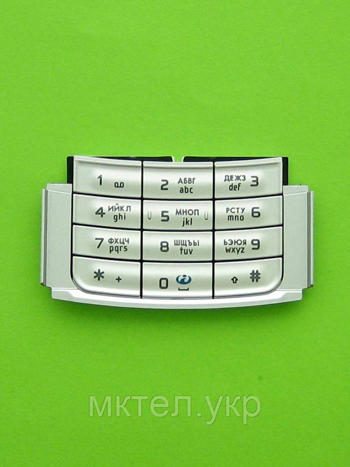 Клавиатура Nokia N95 цифровая, серебристый Оригинал #9799742