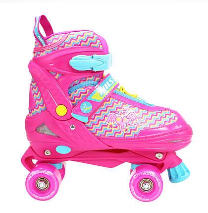 Роликовые коньки Nils Extreme NQ4411A Size 34-37 Pink, фото 2