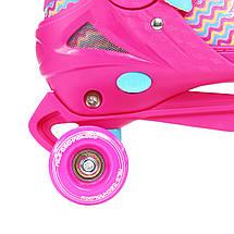 Роликовые коньки Nils Extreme NQ4411A Size 34-37 Pink, фото 3