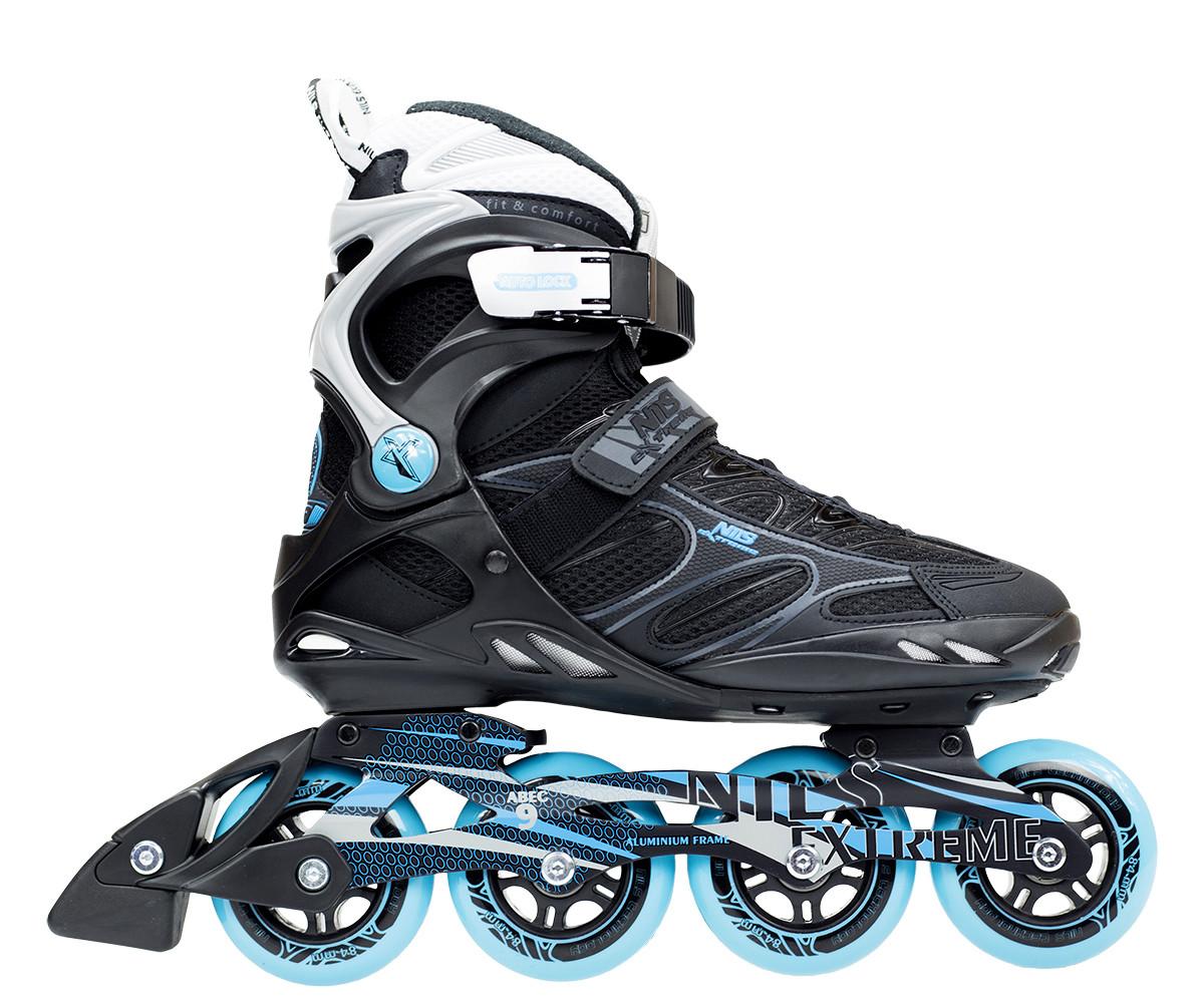Роликовые коньки Nils Extreme NA5003S Size 43 Black/Blue
