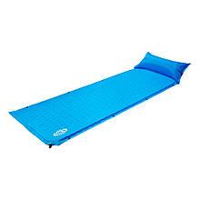 Самонадувающийся коврик Nils Camp NC1006 186x65x2.5 см Blue