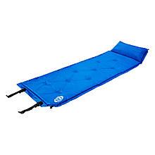 Самонадувающийся коврик Nils Camp NC4348 188x67.5x3 см Blue