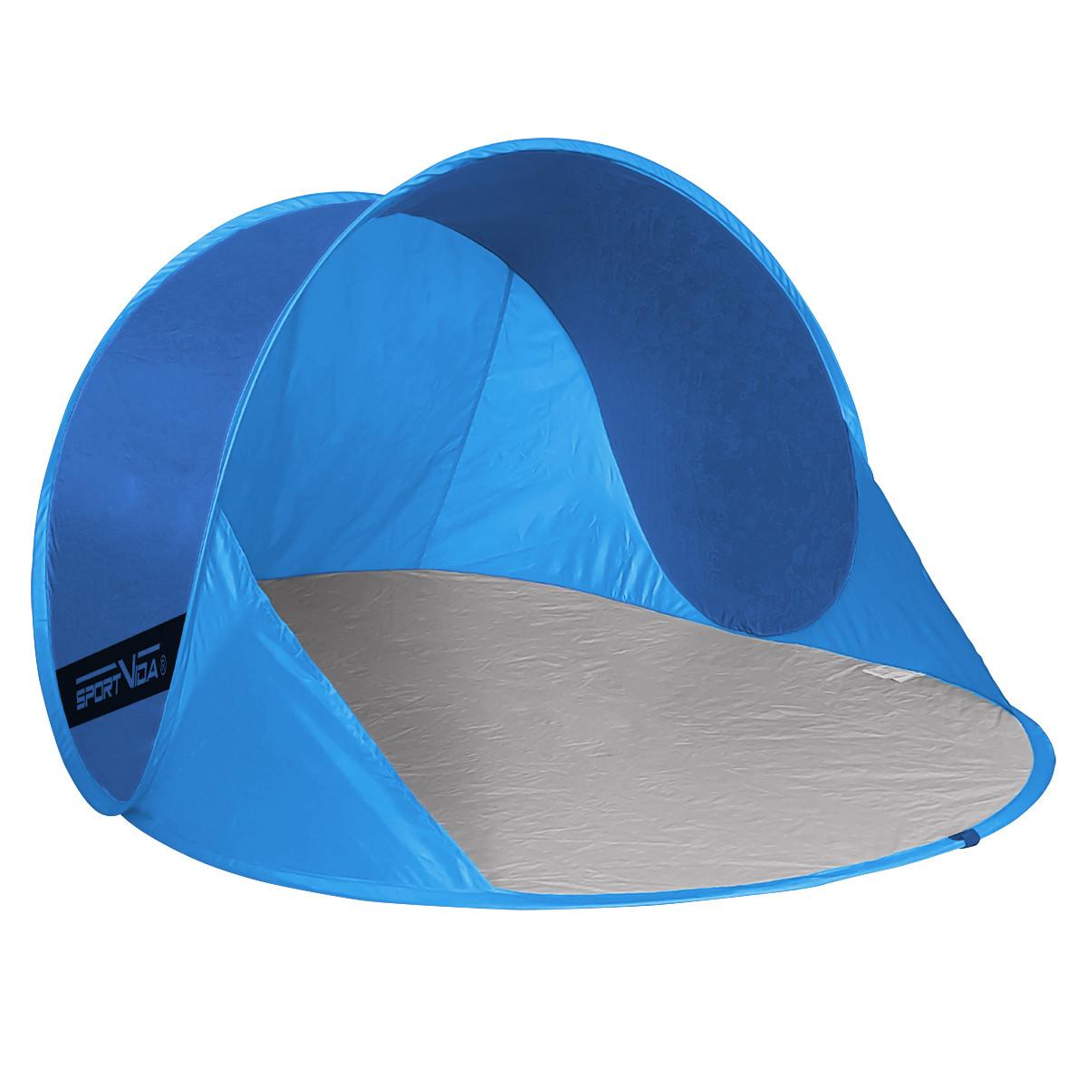 Пляжный тент SportVida 190x120 см SV-WS0006 Blue/Sky Blue