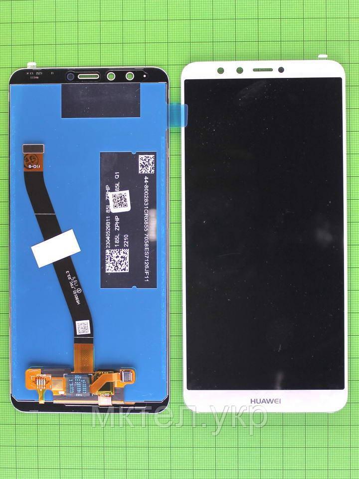 Дисплей Huawei Y9 2018 с сенсором, белый self-welded