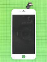 Дисплей iPhone 6 plus с сенсором, рамками датчиков, белый copyAA (LT)