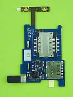 Коннектор SIM карты FLY IQ285 Turbo на плате Оригинал #E2804000013