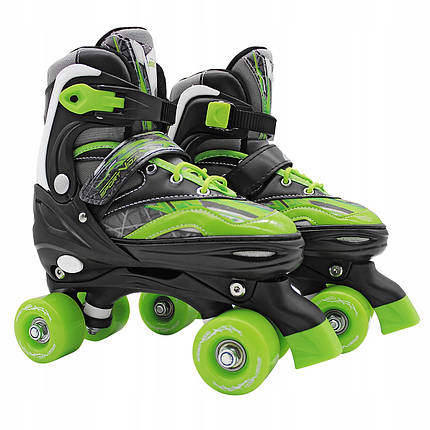 Роликовые коньки (квады) SportVida SV-LG0038 Size 35-38 Black/Green, фото 2