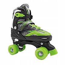 Роликовые коньки (квады) SportVida SV-LG0038 Size 35-38 Black/Green, фото 3