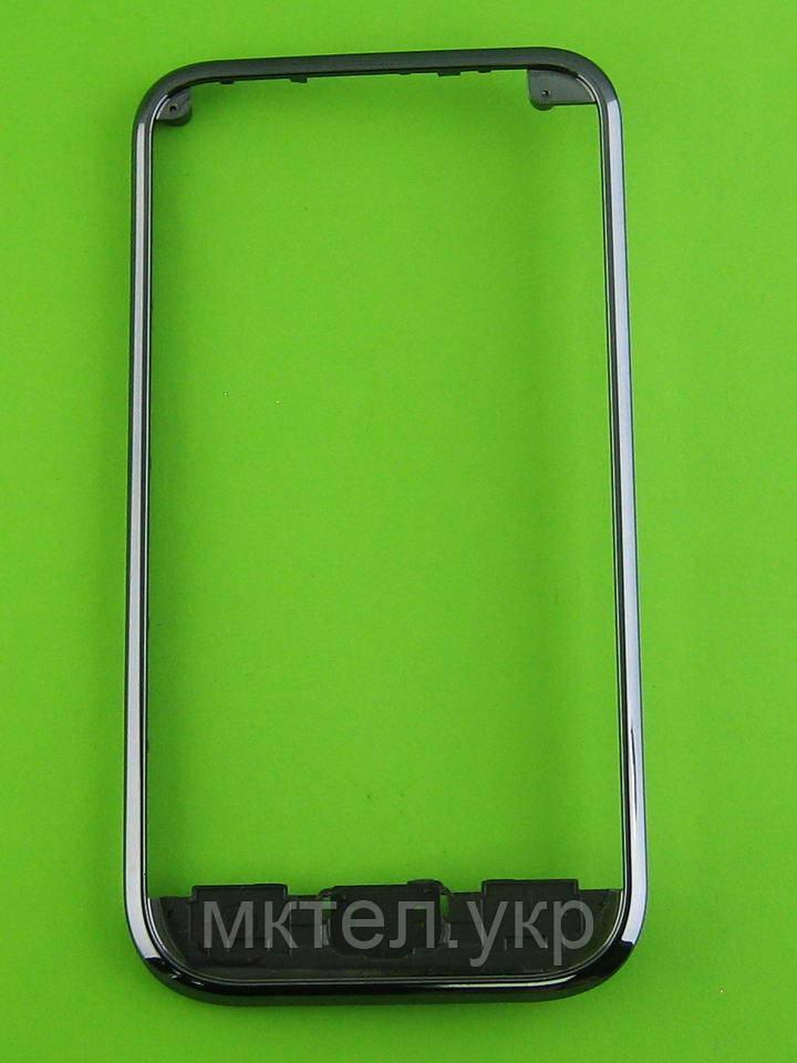 Рамка передней панели Samsung Galaxy S i9000, черный orig-china