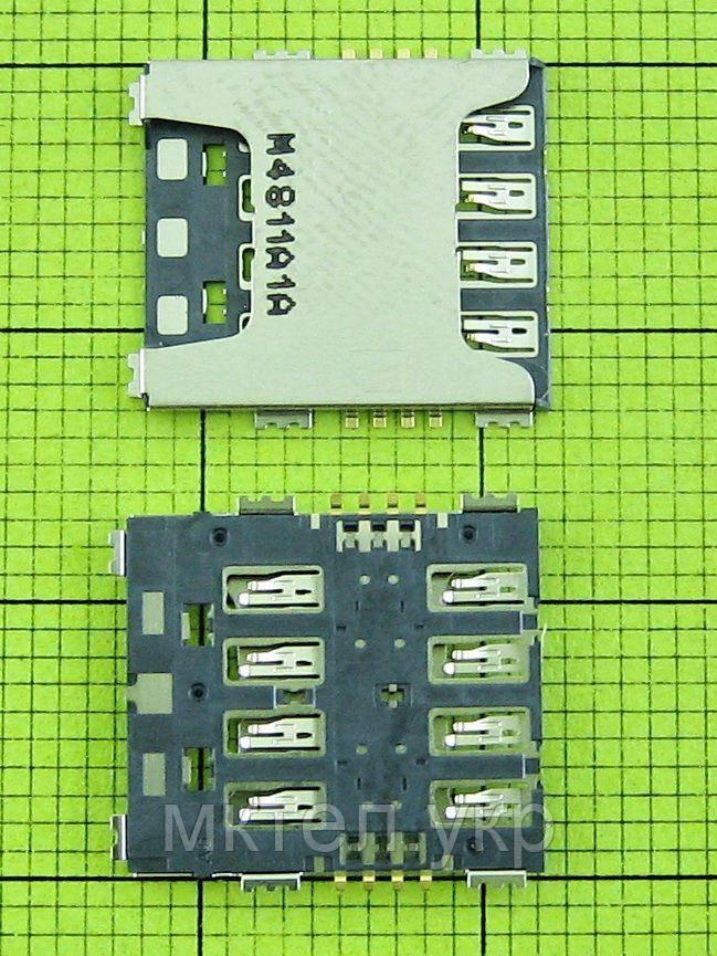 Коннектор SIM карты Samsung Galaxy S5 Duos G900F, orig-china