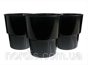 Стаканчик одноразовый стекловидный. чёрный (10 штук)