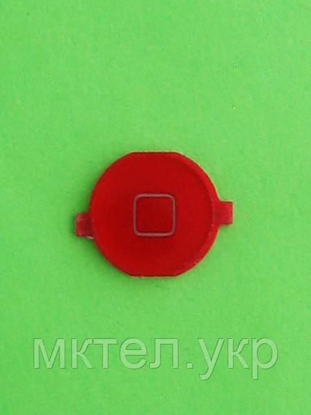 Кнопка Home iPhone 4G, красный copy