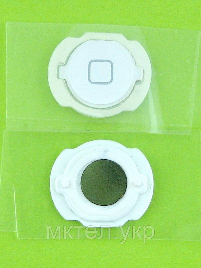 Кнопка Home iPod Touch 4Gen с мембраной, белый orig-china
