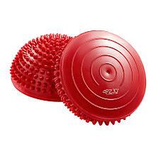 Полусфера массажная балансировочная (массажер для ног, стоп) 4FIZJO Balance Pad 16 см Red