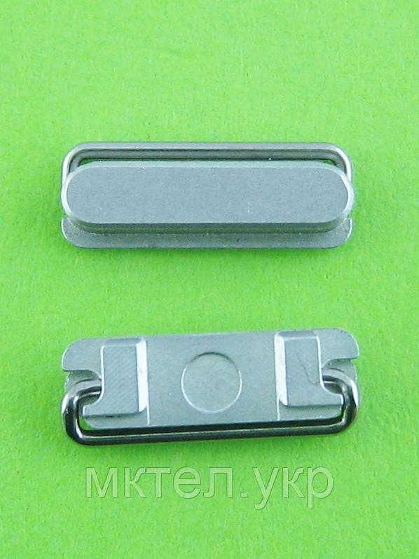 Кнопка включения iPhone 5, серебристый orig-china