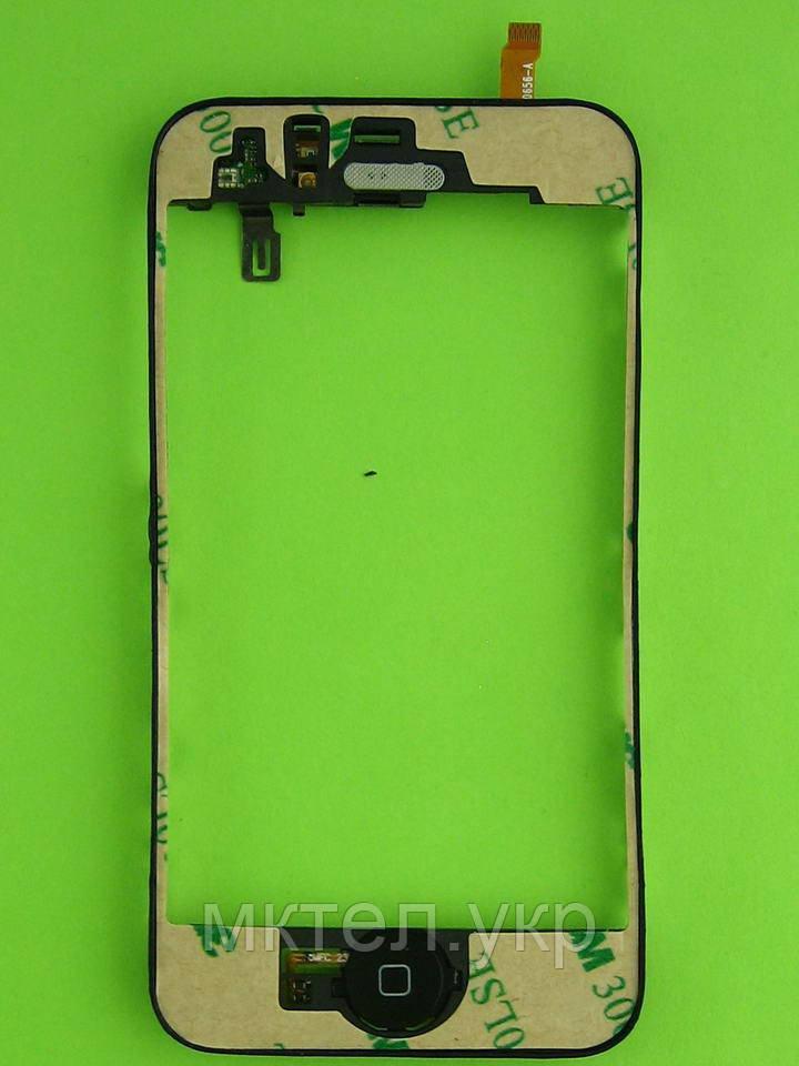Рамка сенсора iPhone 3GS в сборе, черный copy