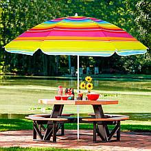 Пляжный зонт с регулируемой высотой Springos 160 см