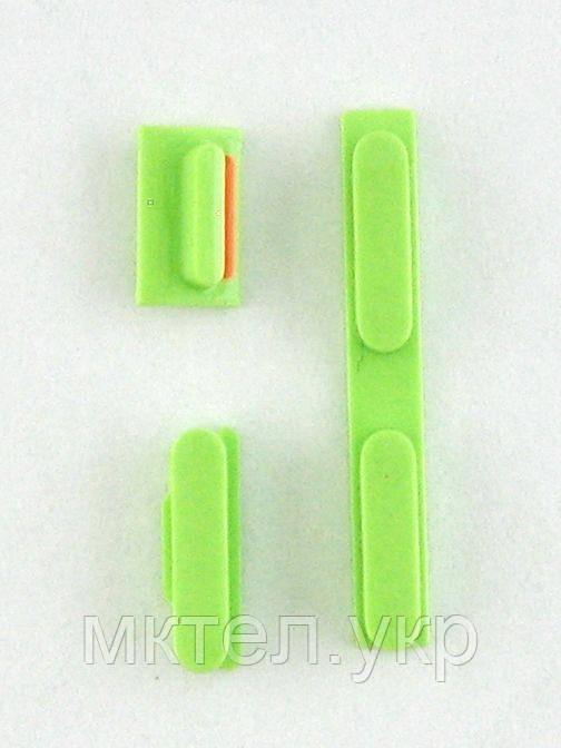 Комплект кнопок, 3 шт. iPhone 5C, зеленый orig-china
