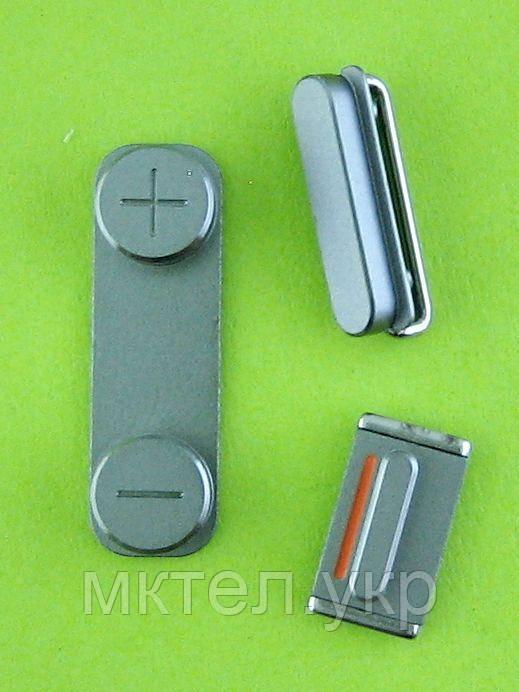 Комплект кнопок, 3 шт. iPhone 5S, черный orig-china