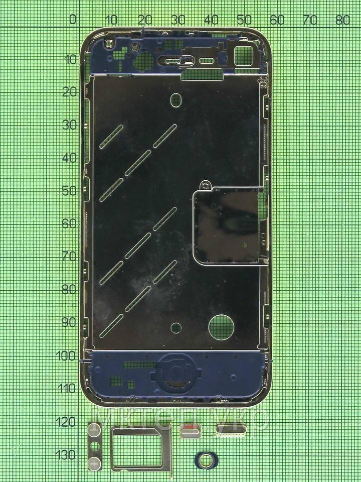 Средняя часть iPhone 4G в сборе, золотистый orig-china