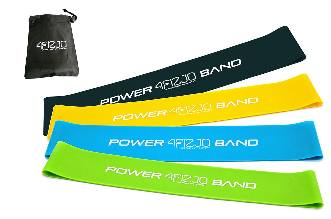 Резинка для фитнеса и спорта (лента-эспандер) 4FIZJO Mini Power Band 4 шт 1-20 кг