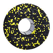 Массажный ролик (валик, роллер) гладкий 4FIZJO EPP PRO+ 33x14 см Black/Yellow, фото 2