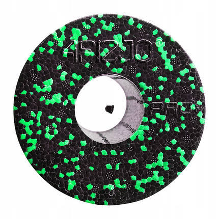 Массажный ролик (валик, роллер) гладкий 4FIZJO EPP PRO+ 45x14.5 см Black/Green, фото 2
