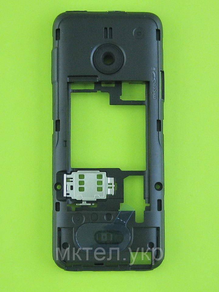 Средняя часть Nokia 208 Dual SIM в сборе, черный, Оригинал #02504H1