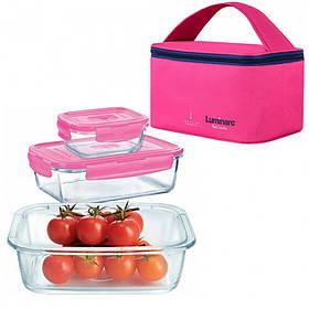 Набор контейнеров с сумкой LUMINARC PURE BOX ACTIVE 3 шт P9972
