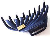 Краб для волос каучуковый большой 9х5 см темно-синий, фото 2
