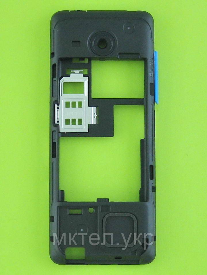 Средняя часть Nokia Asha 206, синий, Оригинал #02501L4