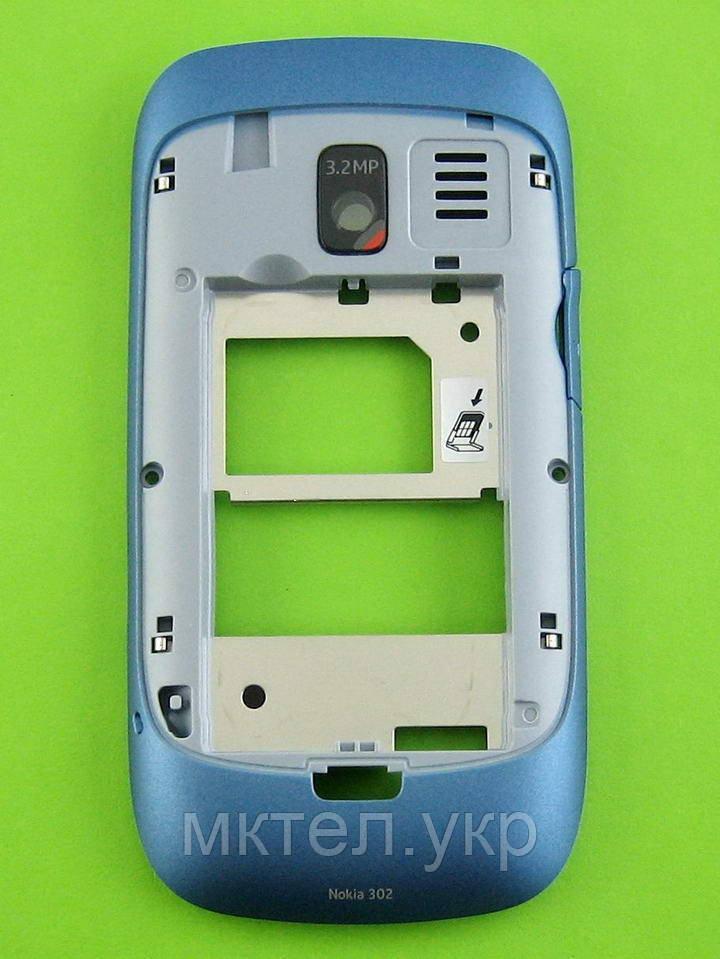 Средняя часть Nokia Asha 302 в сборе, синий Оригинал #0259373
