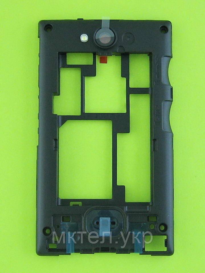 Средняя часть Nokia Asha 503 Dual SIM, черный, Оригинал #02504J3