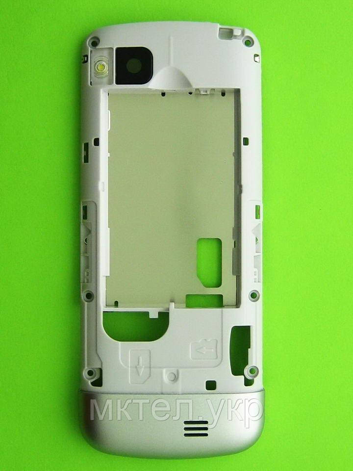 Средняя часть Nokia C3-01 в сборе, серебристый Оригинал #0257476