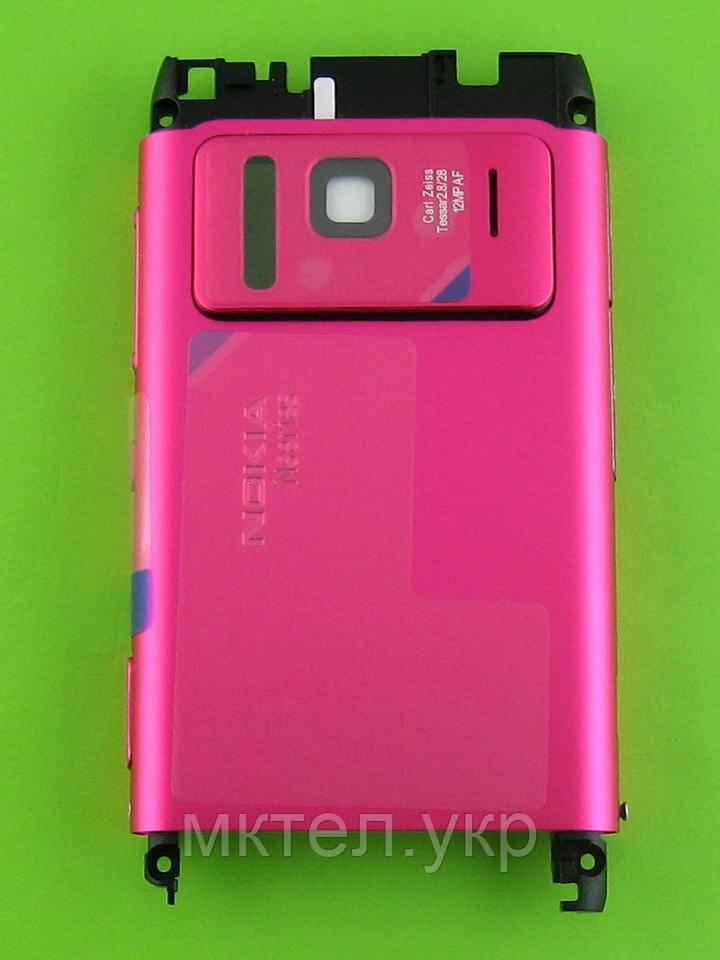 Средняя часть Nokia N8 в сборе, розовый, Оригинал #02699Z3