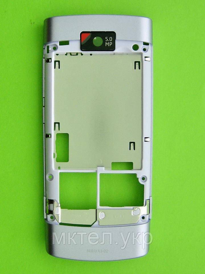 Средняя часть Nokia X3-02 в сборе, лиловый, Оригинал #0257581