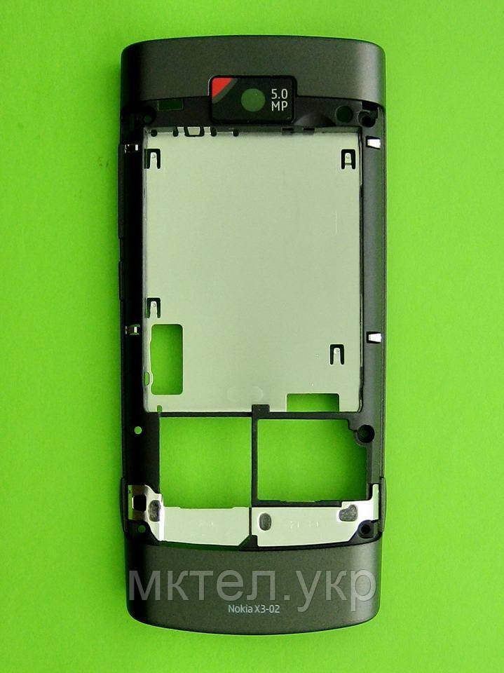 Средняя часть Nokia X3-02 в сборе, черный, Оригинал #0257582