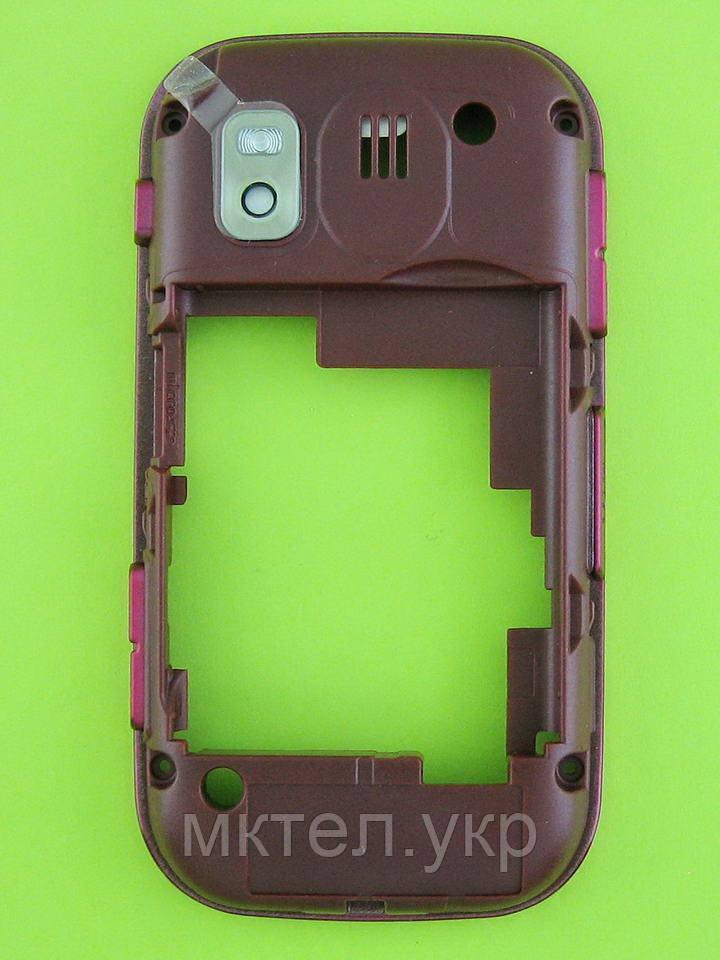 Средняя часть Samsung B5722 Duos в сборе, розовый Оригинал #GH98-14705A