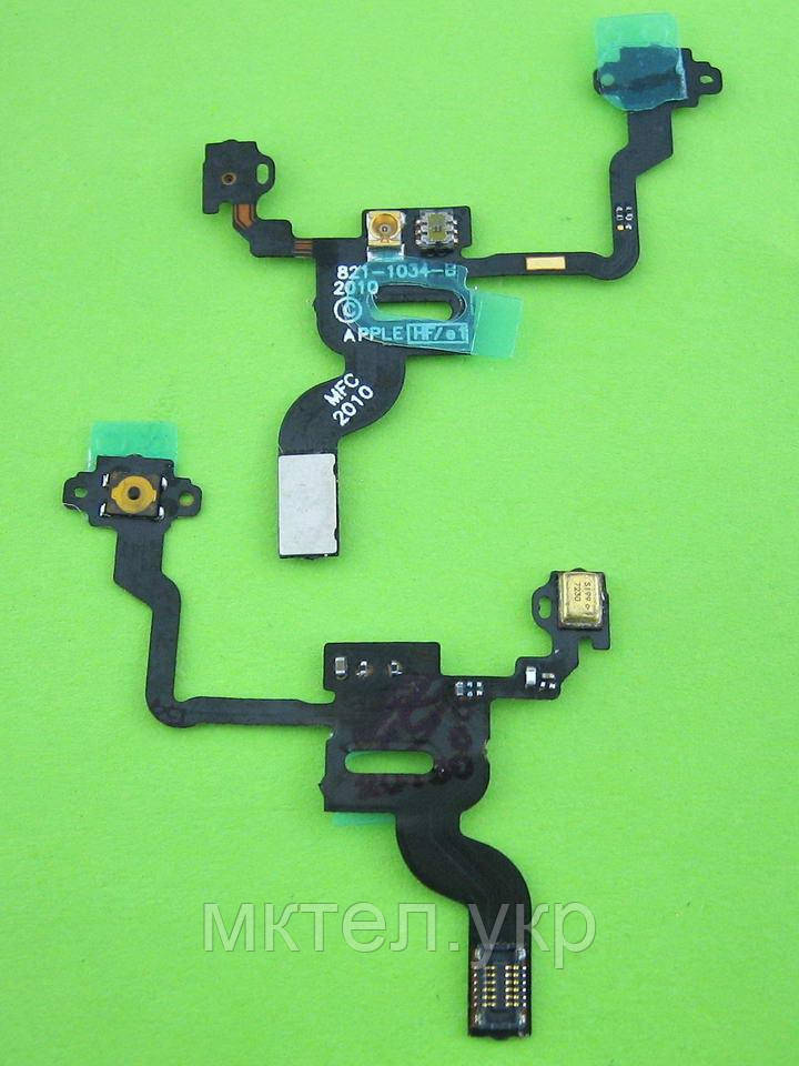 Шлейф кнопки включения iPhone 4G сенсора, датчика приближения copy