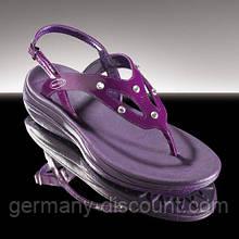Босоніжки зі стразами Swarovski WalkMaxx фіолетові (Німеччина)