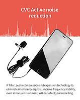 Петличный конденсаторный микрофон YC-LM10 1,5 м линейный аудио видео запись для Huawei Sumsang Xiaomi Type C