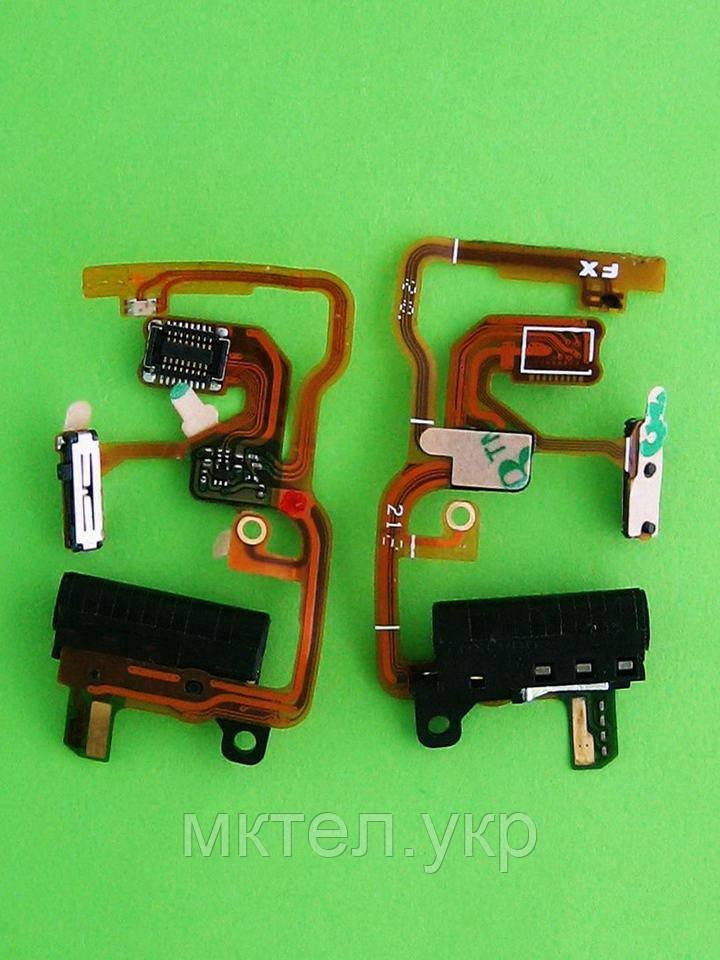 Шлейф коннектора гарнитуры iPod Shuffle 1Gen, черный orig-china