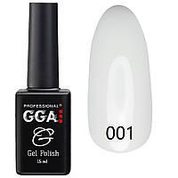 Гель-лак №001 (белоснежно-белый, эмаль) GGA Professional