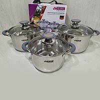 Набор посуды 6 предметов из нержавеющей стали Benson BN-190