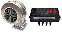 Автоматика Polster C-11 + вентилятор WPA-120k-ZW комплект для твердотопливных котлов