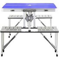 Алюминиевый стол для пикника раскладной со 4 стульями, фото 1