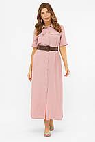 Максі плаття сорочка з бавовни довге на гудзиках вільний літній 42,44,46,48-50, фото 2