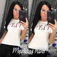 Женская красивая футболка, летняя футболочка, фото 1