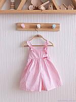 """Детские кюлоты """"Emily"""", бело-розовая полоска. Размеры: от 62 до 80, фото 1"""