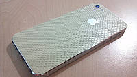 Декоративная защитная пленка для Iphone 5, рептилия бежевая, фото 1